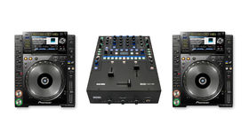 Image of a Full Pioneer CDJ-2000Nexus and Rane Sixty-Two Mixer Package