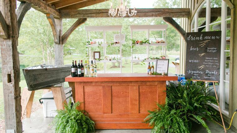 Modern Bar Set-Up at Big Spring Farm : goodshuffle.com