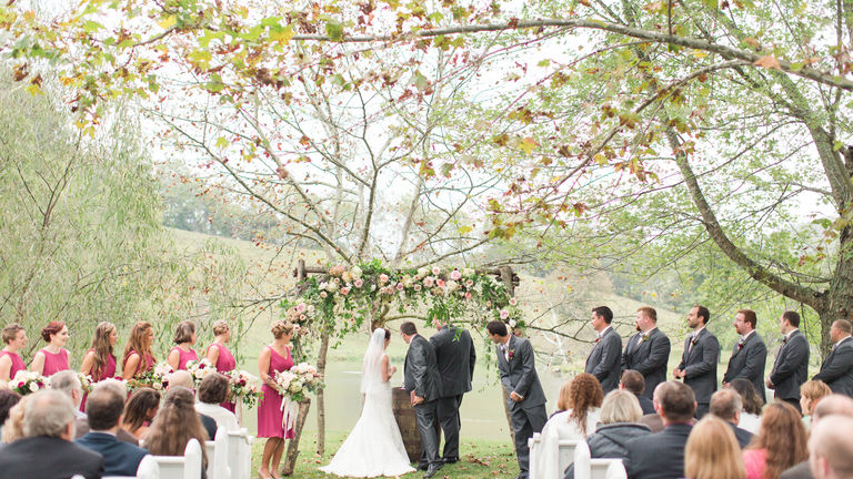 Gorgeous Floral Ceremony : goodshuffle.com