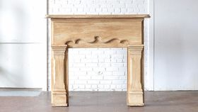 Image of a Wooden Mantle