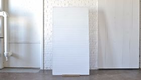 Image of a White Beadboard Backdrop