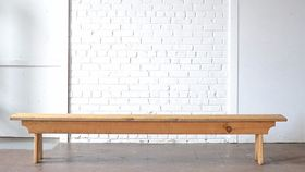 Image of a 8 Foot White Pine Bench
