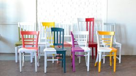 Image of a Asymmetrical Chairs - Cherry