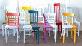 Image of a Asymmetrical Chair - Mist