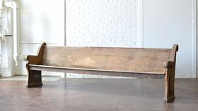 Image of a Rustic Wooden Pew