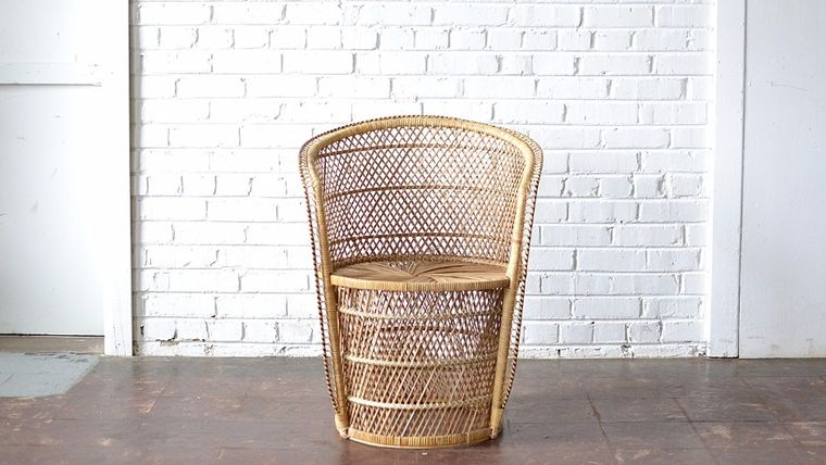 Image of a Wicker Barrel Chair