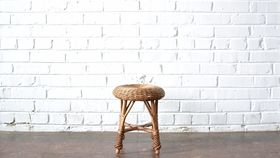 Image of a Wicker Footstool