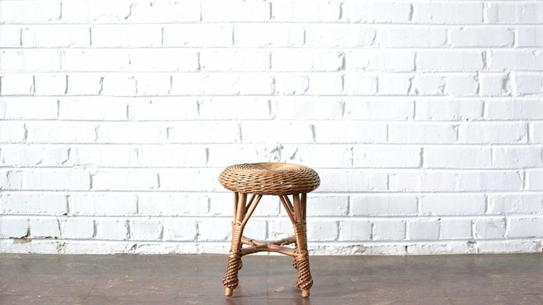 Picture of a Wicker Footstool