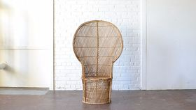 Image of a Wicker Peacock Chair