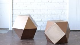 Image of a Geometric End Table
