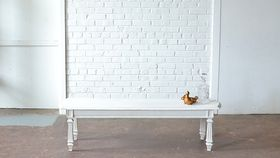 Image of a Long White Coffee Table