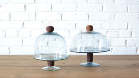 Image of a Clear Glass Cake Stand