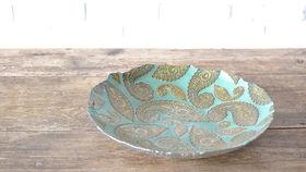 Image of a Jade Paisley Bowl