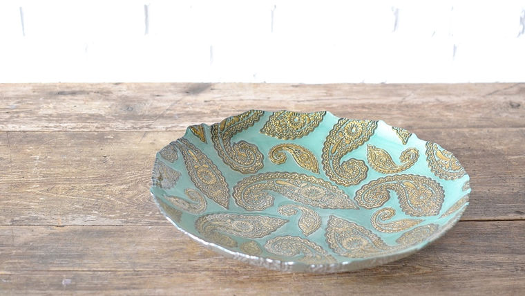 Picture of a Jade Paisley Bowl