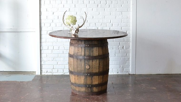Picture of a Round Barrel Table