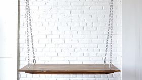 Image of a Small Hanging Farm Table