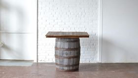 Image of a Square Barrel Table