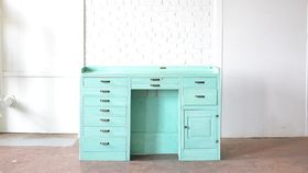 Image of a Teal Desk