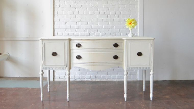 Picture of a White Sideboard