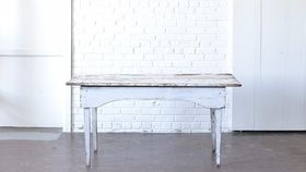 Image of a Five Foot White Farm Table