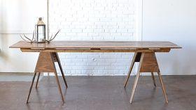 Image of a Sawhorse Farm Table