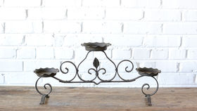 Image of a Wrought Iron Candle Holder