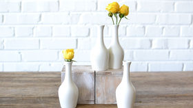 Image of a White Bud Vase