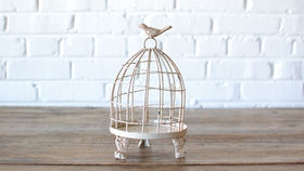 Image of a Shabby Chic Birdcage - Small