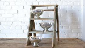 Image of a Mercury Glass Pedestal Bowl