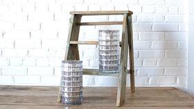 Image of a Mercury Glass Cylinder Vase