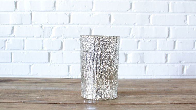 Picture of a Large Mercury Glass Vase