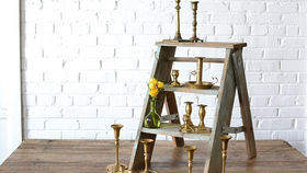 Image of a Brass Candlesticks