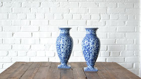 Image of a Blue & White Porcelain Vase