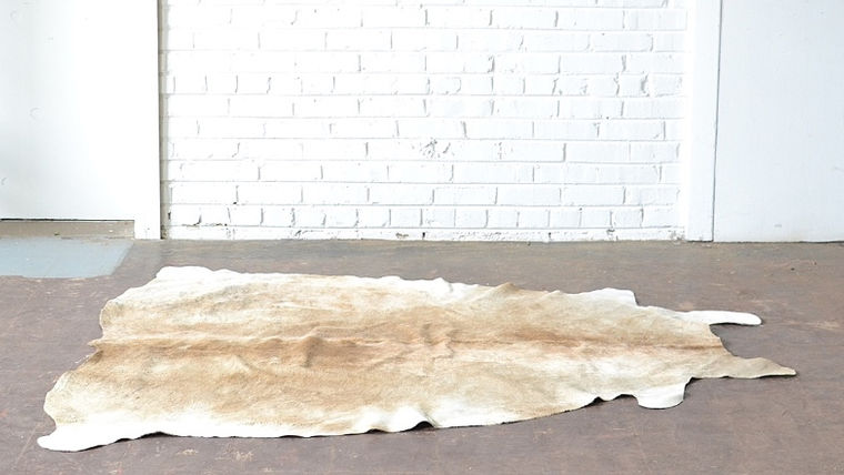 Image of a Cowhide Rug - Tan