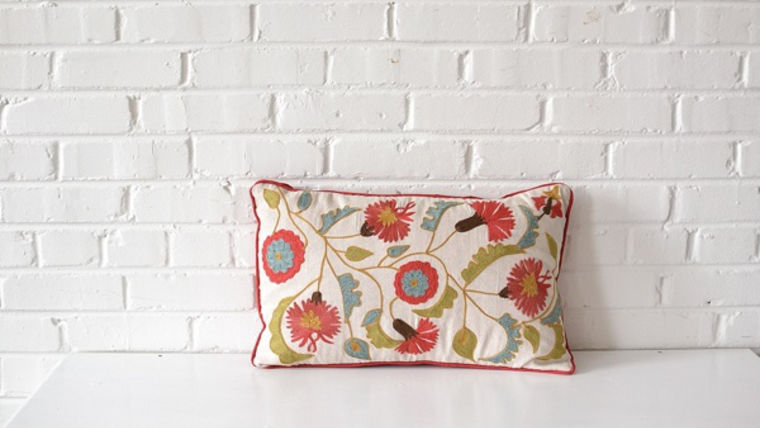 Image of a Rectangle Floral Pillow