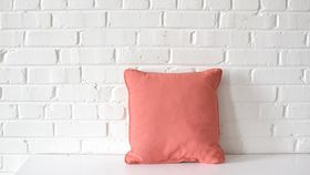 Image of a Pink Square Pillow