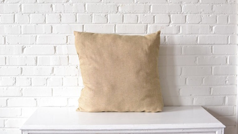 Picture of a Oversized Beige Pillow