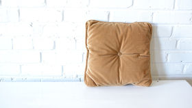Image of a Gold Square Pillow