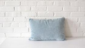 Image of a Light Blue Rectangle Pillow