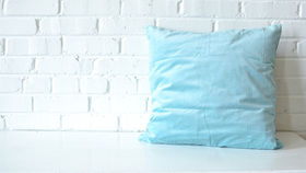 Image of a Blue Square Pillow