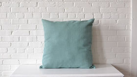 Image of a Oversized Light Blue Square Pillow