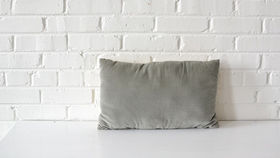 Image of a Silver Rectangle Pillow