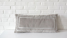 Image of a Gray Rectangle Pillow