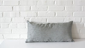 Image of a Textured Gray Rectangle Pillow