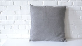 Image of a Oversized Gray Square Pillow