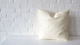 Image of a Oversized White Square Pillow