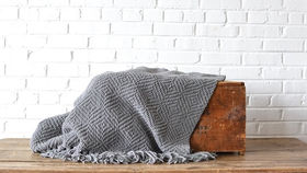 Image of a Gray Throw Blanket