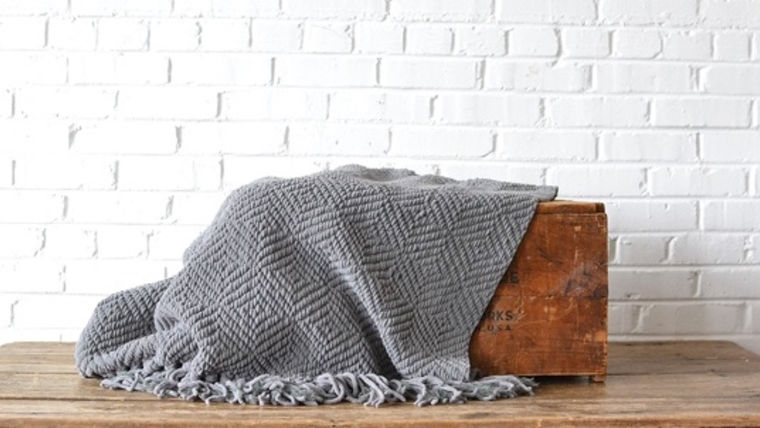 Picture of a Gray Throw Blanket