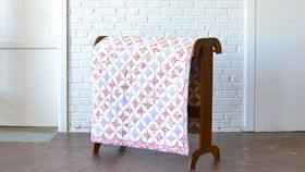 Image of a Floral Diamond Quilt