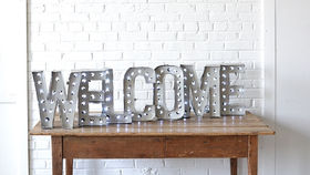 Image of a Marquee Letters - WELCOME